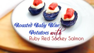 ruby red salmon and potatoes