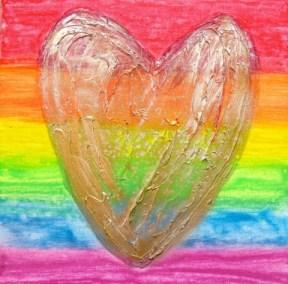 LoveHug™ Celebrate Pride Heart Art
