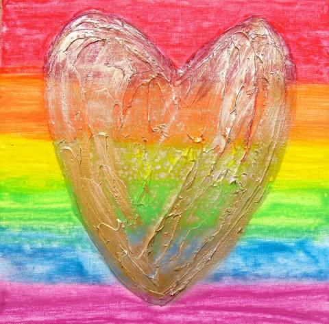 LoveHug Celebrate Pride Heart Art