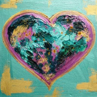 Heart art for Valentines Day