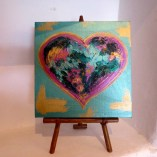 Heart art on stand