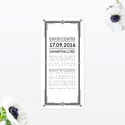 Small Of Art Deco Wedding Invitations