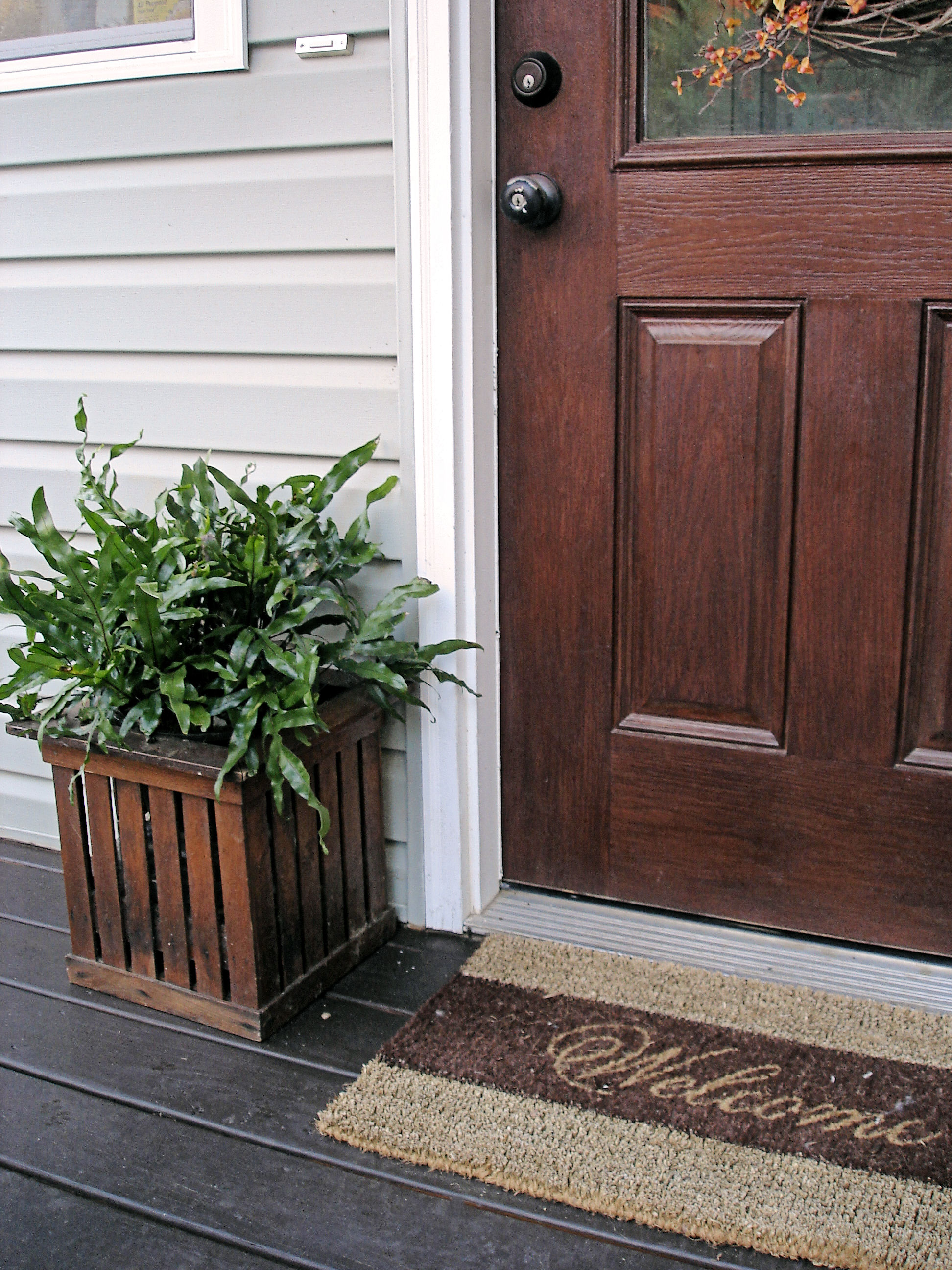 Front porch refresh done for Stained front porch