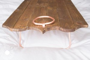 Copper Legs & Handles for the Carved Tray