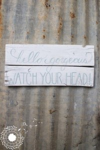 Hello Gorgeous: The first Lovely Weeds Mini-Shop sign