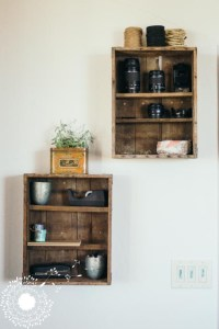 Crates On A Wall