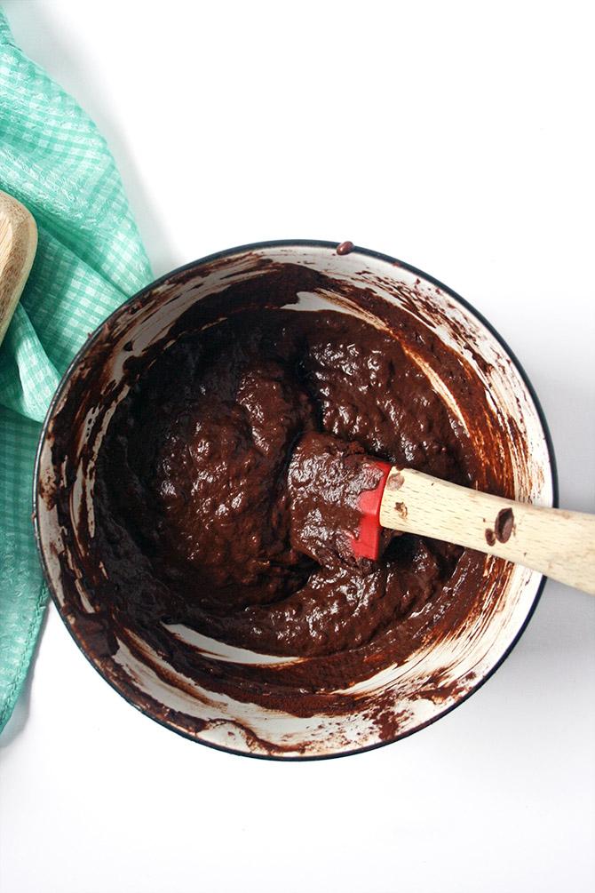 Vegan Brownie Cake with Raspberry Chocolate Frosting