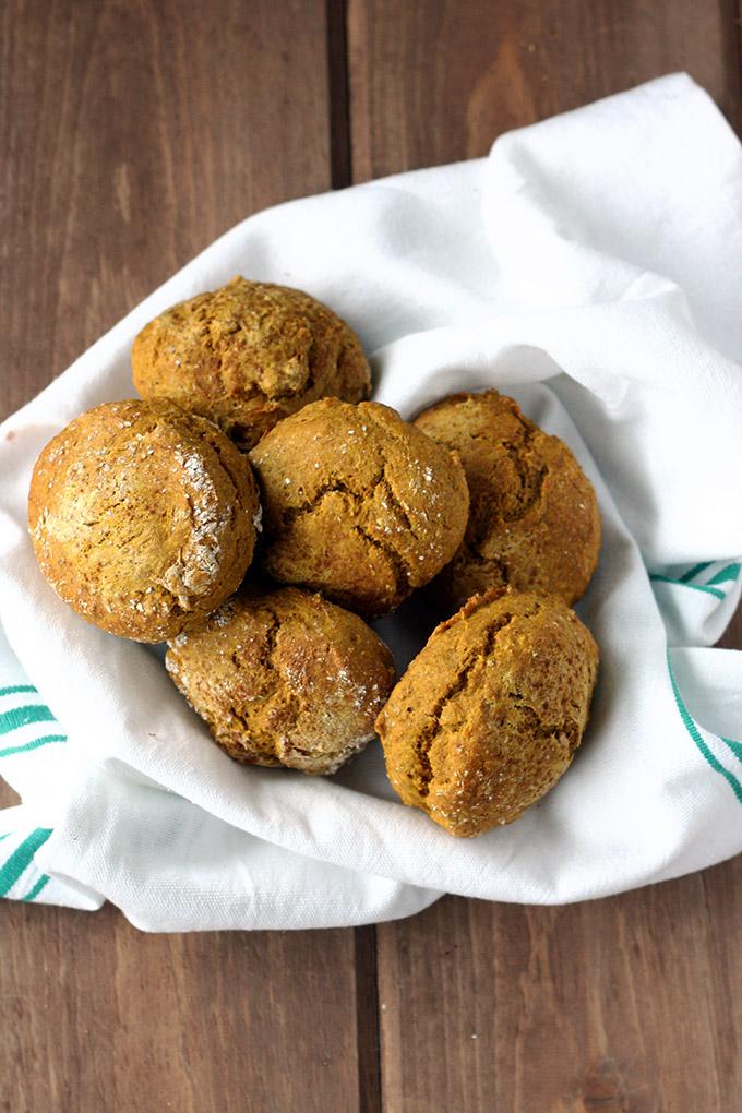 Vegan Kabocha Biscuits - glorious gold biscuits