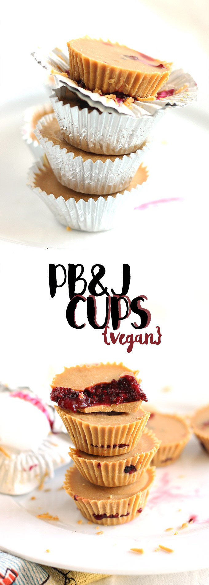 vegan pb&j cups (sugar free!)   love me, feed me