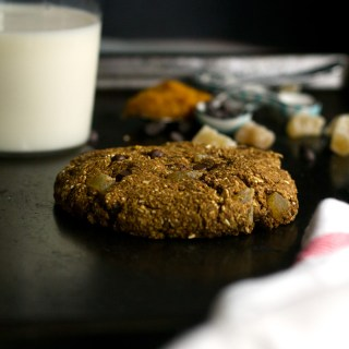 vegan chocolate chip ginger cookie for one | love me, feed me