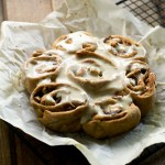 vegan apple chai cinnamon rolls made with spelt flour | love me, feed me