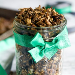 vegan gingerbread granola (oil- and nut-free too!)   love me, feed me