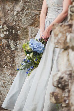 Beautiful Bride in Blue for a Fairytale Castle Wedding…