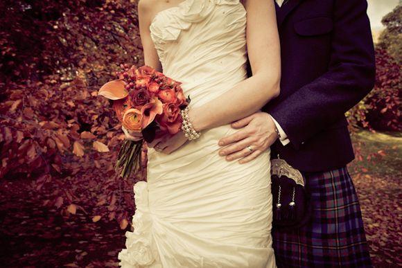 A Beautiful Autumn, Scottish Wedding…