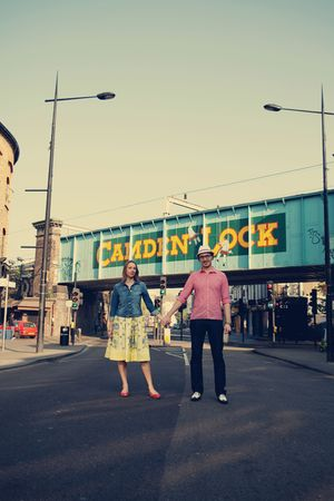A Fun, Quirky and Retro Style Camden Engagement Shoot…