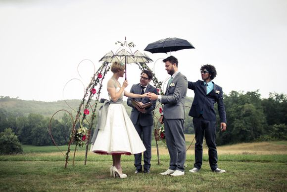 A Fun and Quirky Outdoor Wedding…