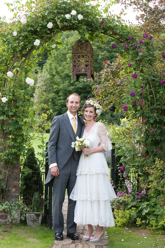 A Tiered, Edwardian Lace Wedding Dress for a Beatrix Potter Inspired English Summer Wedding…