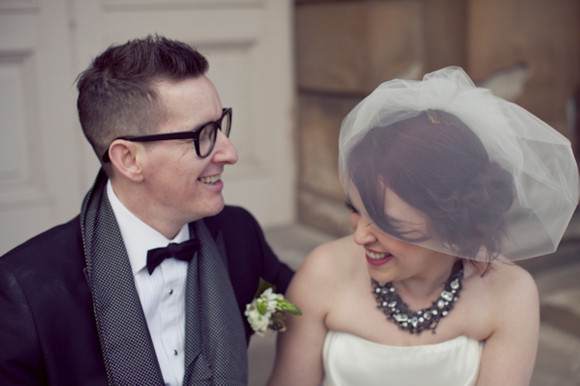 Black Tie and Two Frocks for a Literary and Vintage Inspired Wedding…