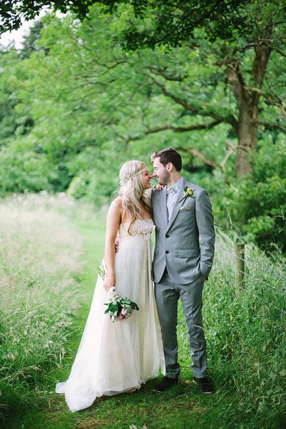 Claire Pettibone's Larissa for a Delightful Homemade, DIY Wedding in the Countryside…