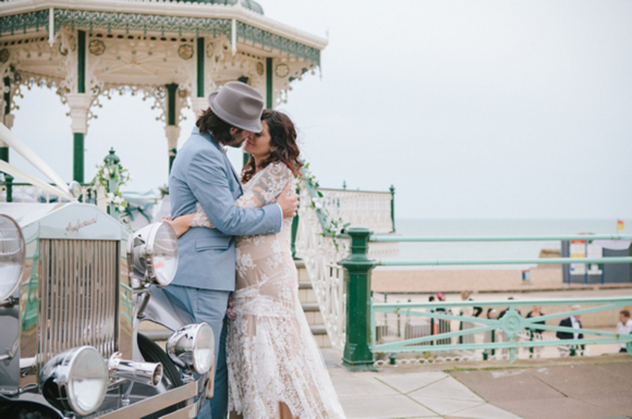 A Beautiful, Pregnant Bride And Her 1930's 'Louche Glamour' Inspired Brighton Pier Wedding…