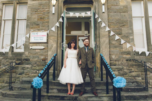 Tweed, The Town Hall and Lots of DIY ~ A Handmade Vintage Inspired Wedding in Scotland…