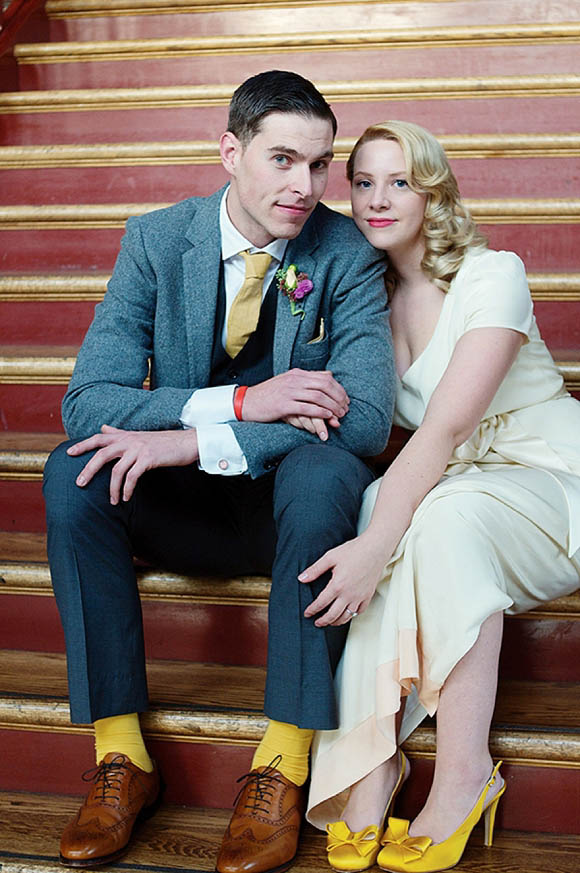 A BHLDN Wedding Gown for a Vintage Wedding Inspired by Howard Hughes Aviator…