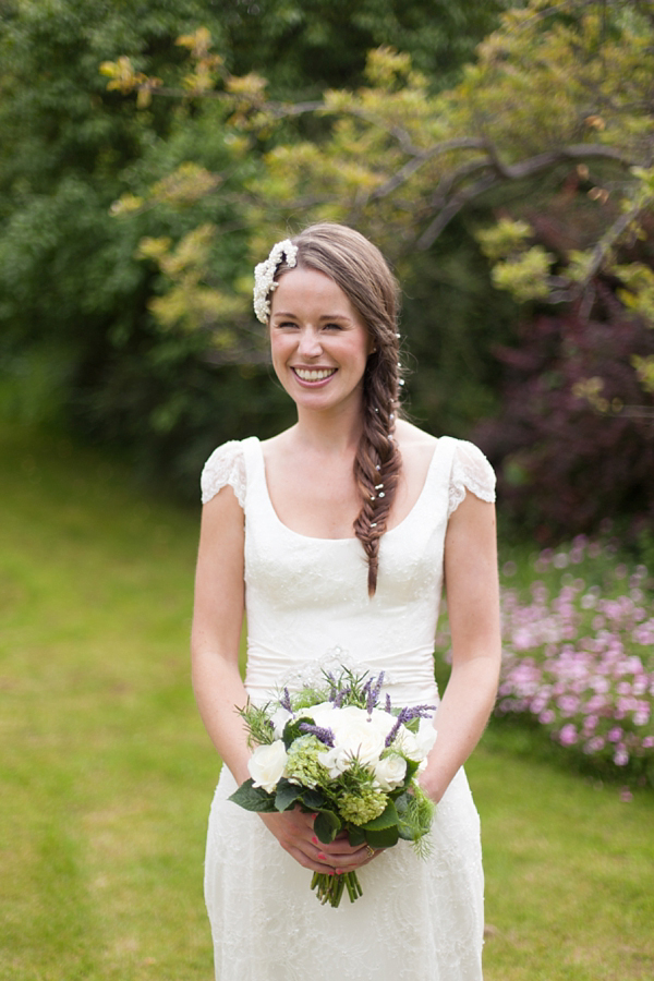 A Fishtail Plait and Pretty Flowers for an Eco Friendly Village Hall Wedding (Weddings )