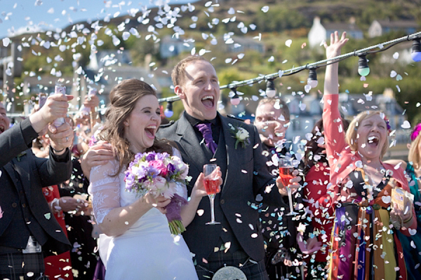 Two Love Birds Tie The Knot On A Barge ~ A Sunny Celebration With Hints of 60's Chic