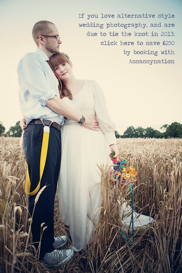 Assassynation ~ Alternative, Fun Wedding Photography and a Generous Reader Offer