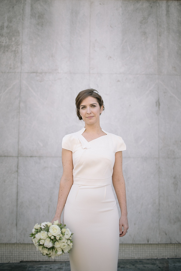 A Roland Mouret Wedding Dress For a Chic and Minimalist Style London Wedding