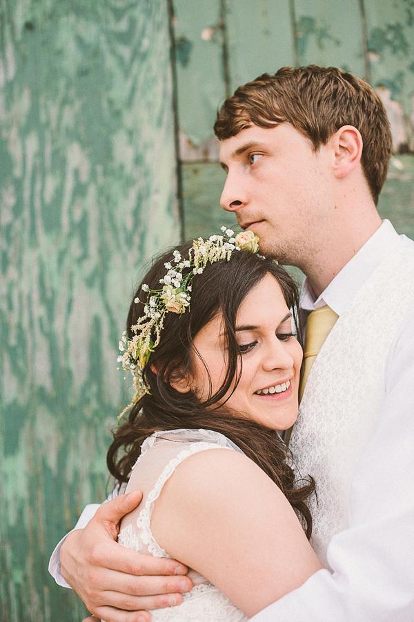 A Bridal Flower Crown For A Pretty Peach, Paper Crane, DIY Wedding