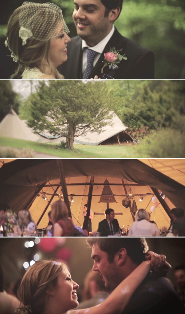 Lunch Time Wedding Film ~ Matt and Wendy And Their Vintage Teepee Style Wedding, by Magic Hour Films