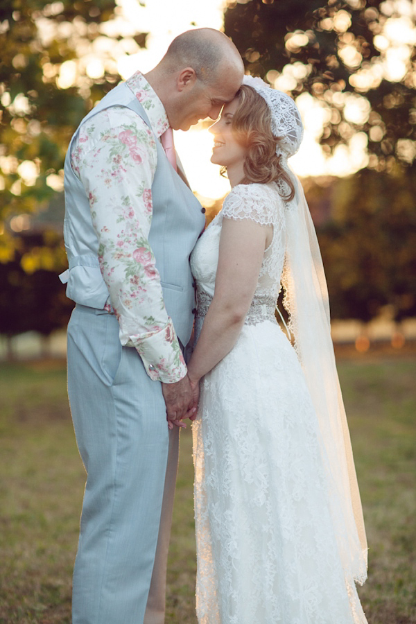 Claire Pettibone And A Juliet Cap Veil For An Elegant Vintage Rose Inspired Wedding