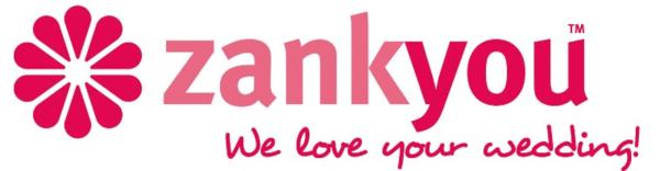 Zankyou ~ Personalised Wedding Websites and Gift Lists