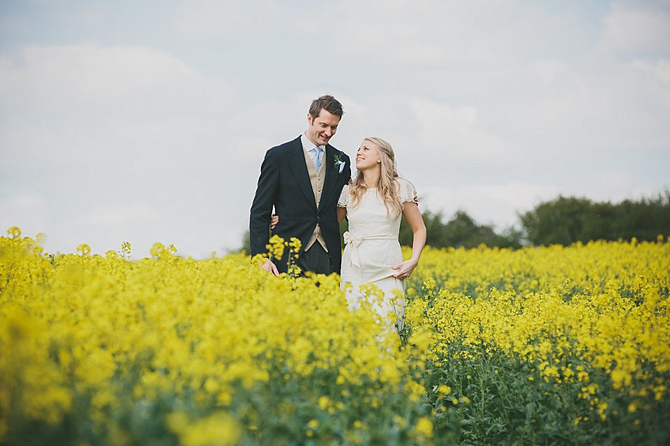 A Belle & Bunty Gown for a Pretty English Country Garden Inspired Wedding