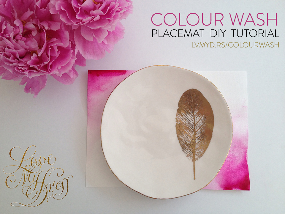DIY Tutorial:  Colourwash Placemats For Your Wedding Reception