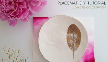 DIY Tutorial:  Colourwash Placemats For Your Wedding Reception