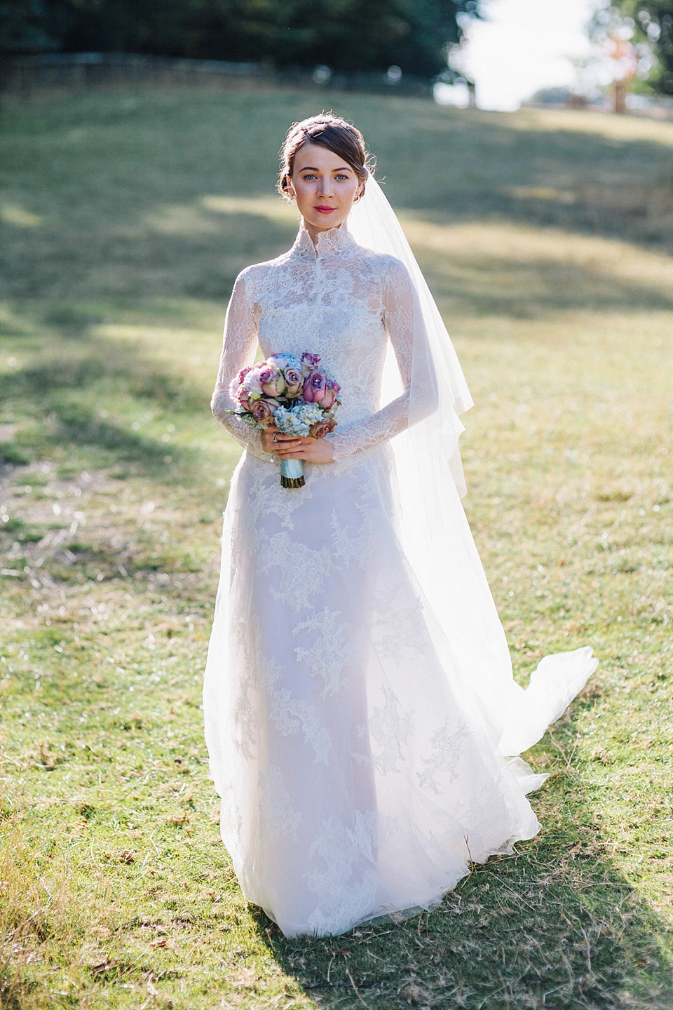 Grace Kelly Elegance and a Manuel Mota Gown for a Fairytale Wedding at Blenheim Palace