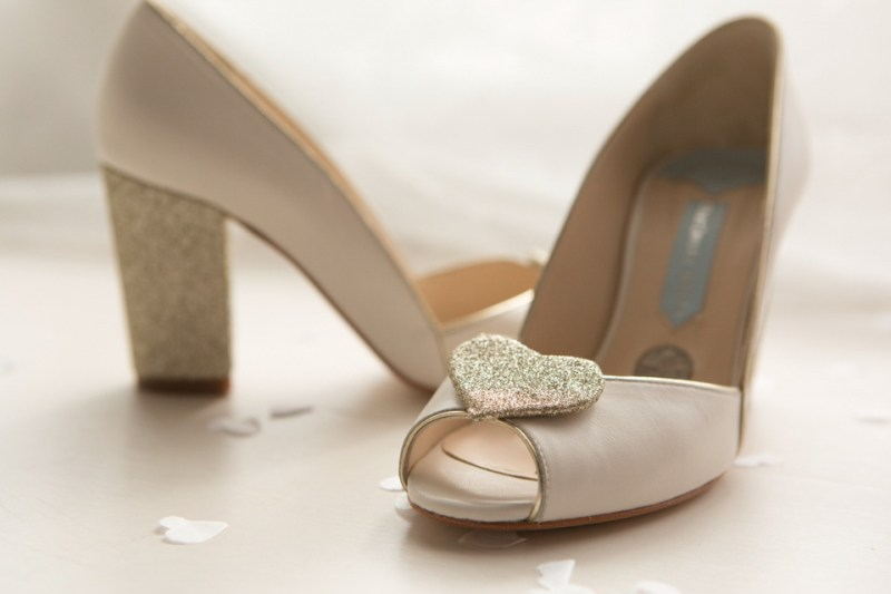 Wedding Shoes Silver Sixpence