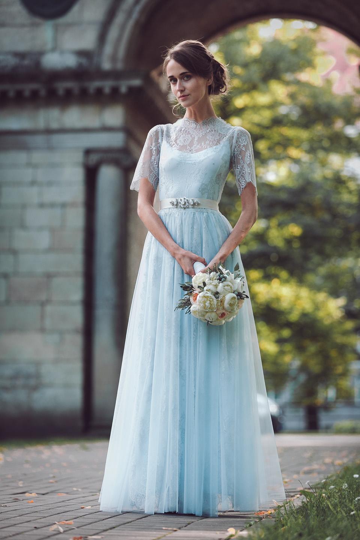 Light Blue Bridesmaid Wedding Dress – Fashion dresses