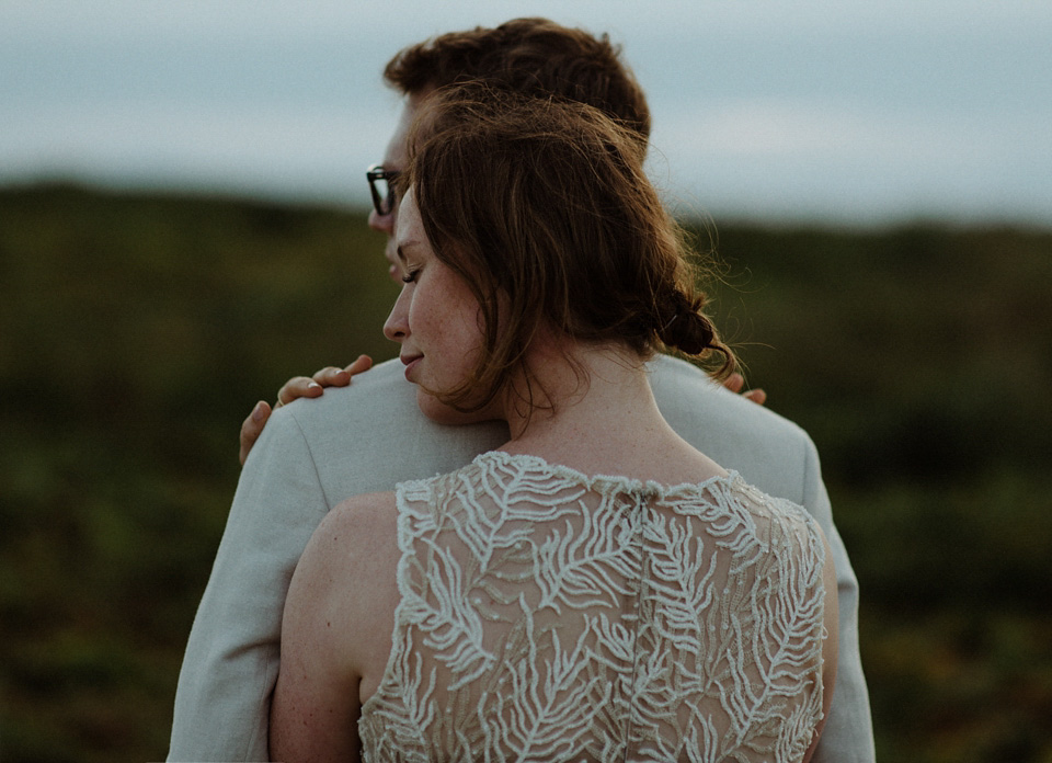 An Original 80's Wedding Dress and BHLDN Gown for a Lundy Island Wedding