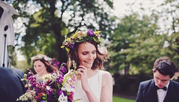 The 'Wedfest' of Helen and Andrew: Glamping, Glamour and Pretty Purple Flowers