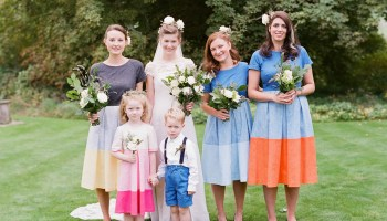 Flowers in her Hair for a Colourful English Country Garden Wedding