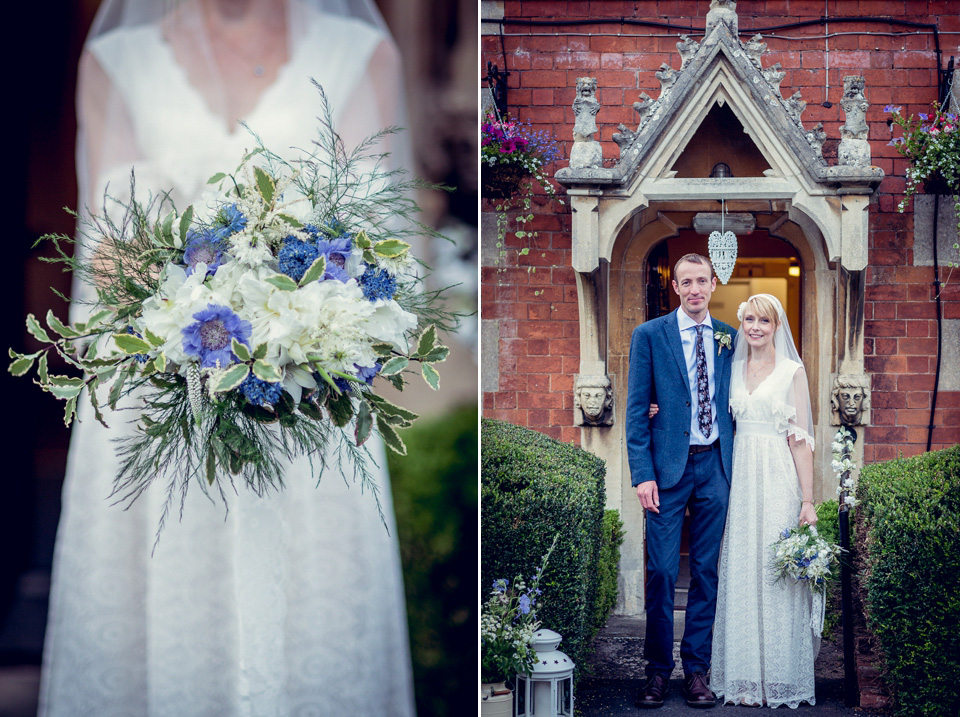 A Pretty 'Minna' Gown and Wildflowers for a Midsummer Night's Dream Inspired Wedding