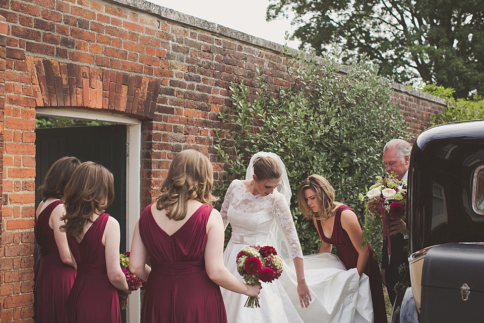 An Enchanted Elegance and Autumn Feast Inspired Wedding in 'Marsala', Pantone Colour of the Year (Weddings )