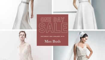 The Legendary Miss Bush One Day Bridal Sample Sale, 3rd January 2015 (+ Extra 10% Saving For Readers)