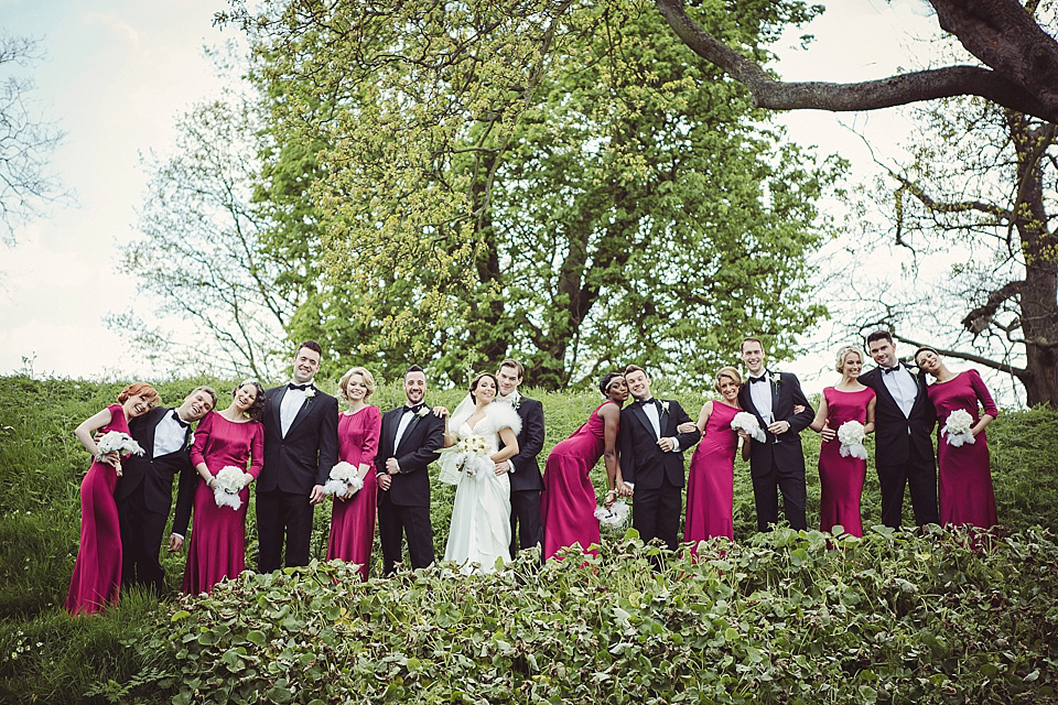 A Fred Astaire and Ginger Rogers Inspired Art-Deco Wedding at Eltham Palace