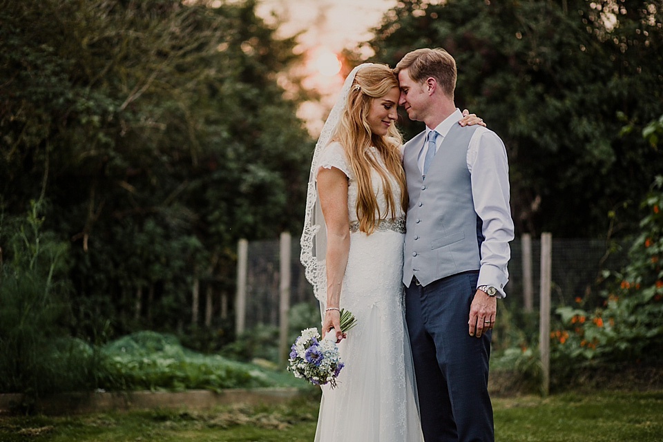 An Elegant Cymbeline Gown for a Pale Blue, Rustic Style, September Wedding