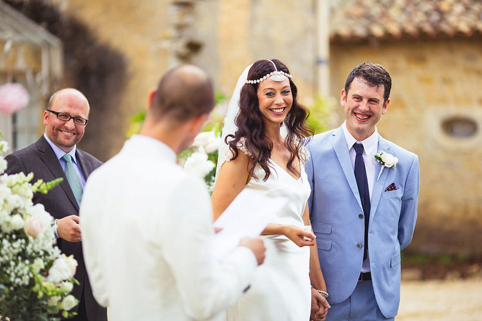 A Maggie Sottero Dress and Soft Pastel Shades for A French Château Wedding