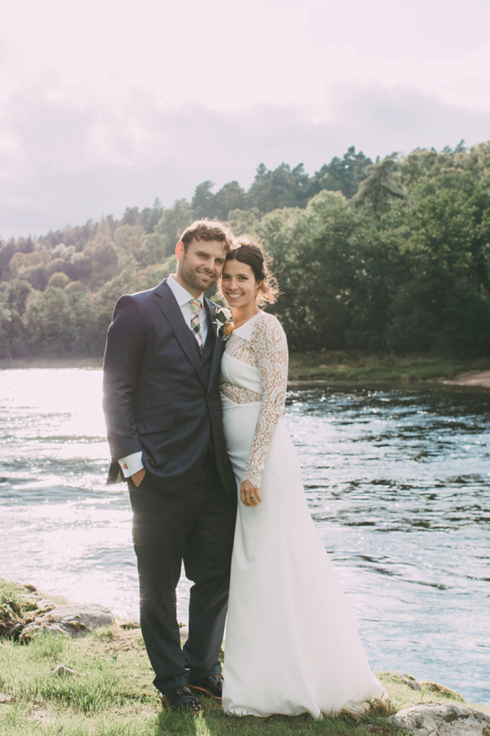 A Rime Arodaky Dress and Spectacular Scottish Castle Wedding